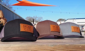 Image of Leather Logo Mesh Back Hat