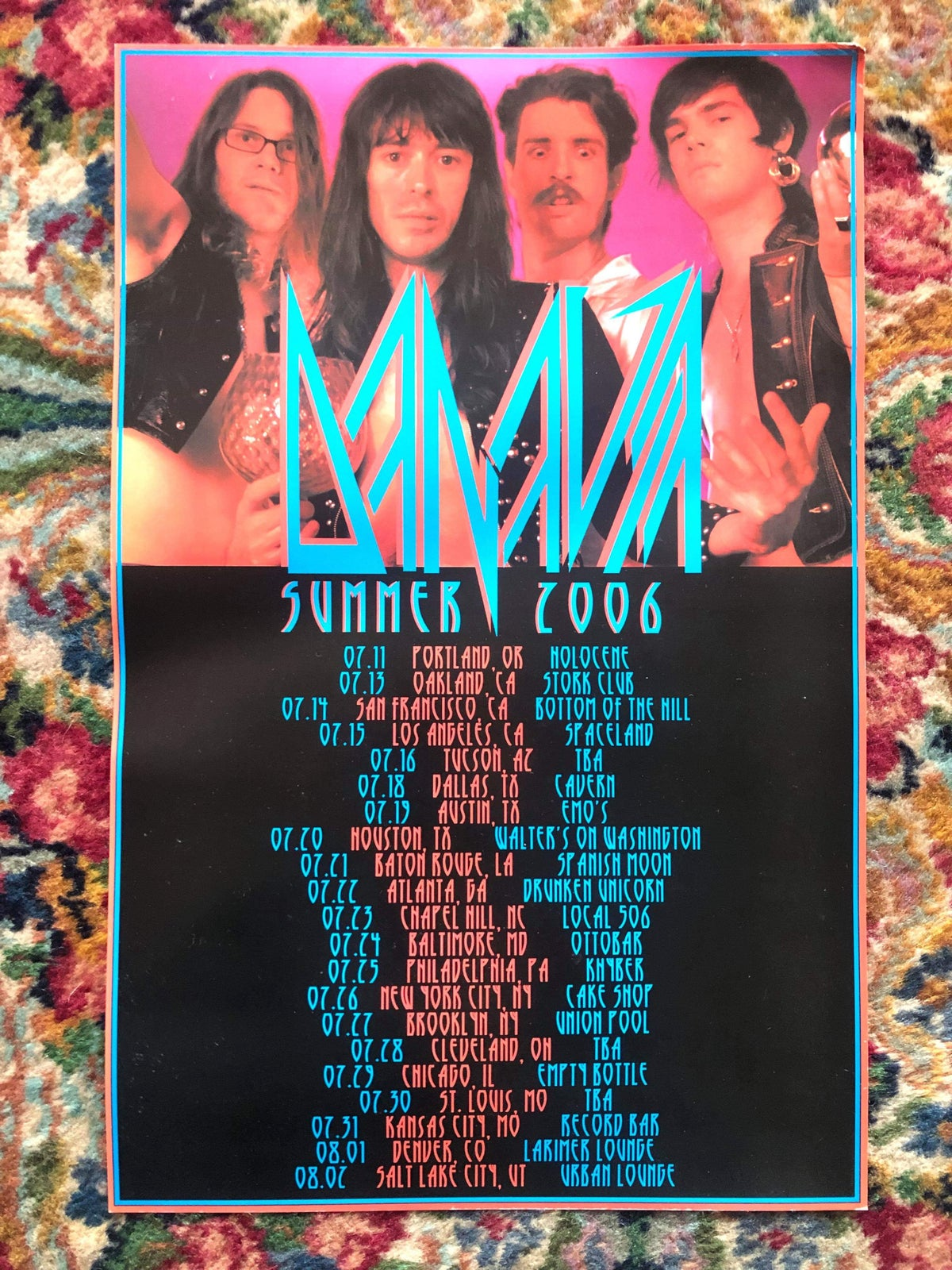 Image of 2006 Tour Poster