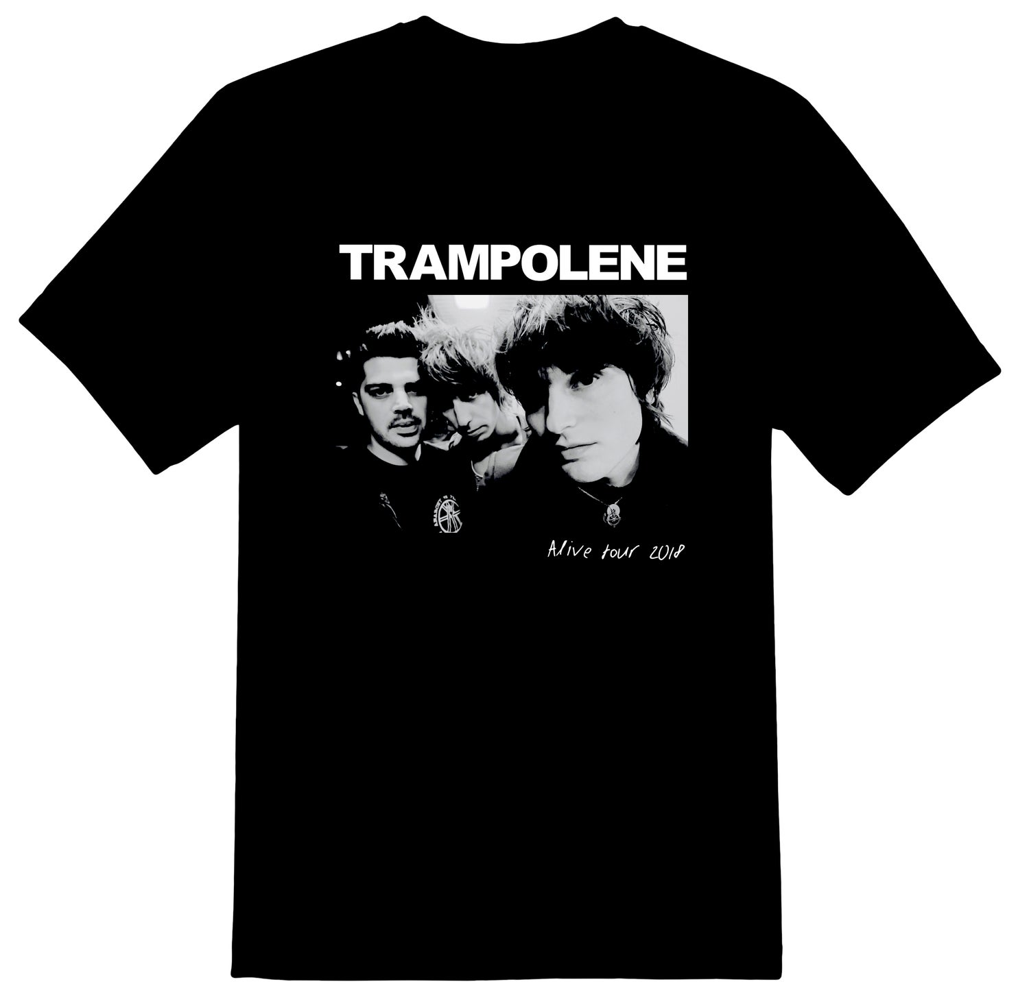 Image of TRAMPOLENE 2018 photo t-shirt plus FREE mini poster
