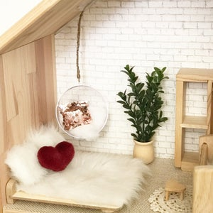 Image of Valentines Dollhouse Pillows