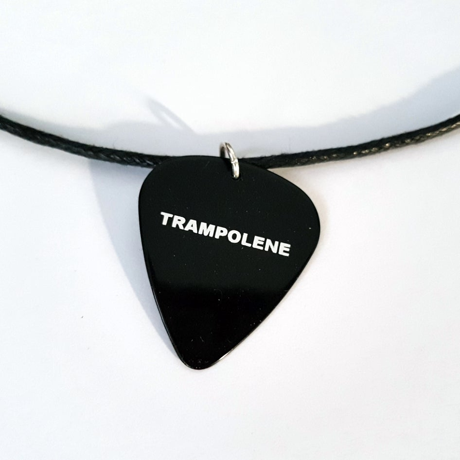 Image of TRAMPOLENE logo plectrum necklace