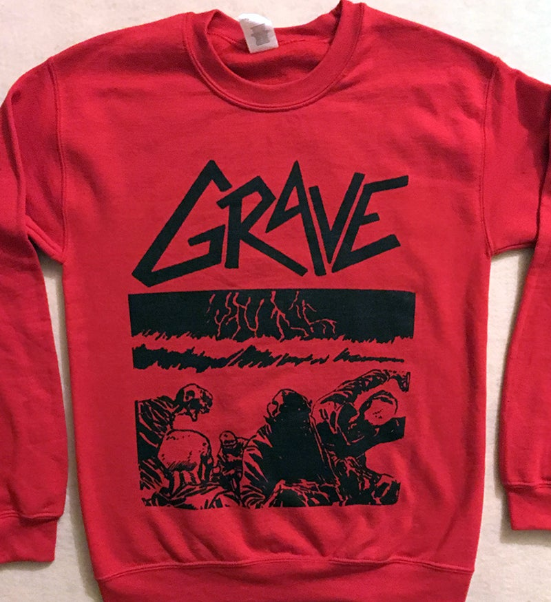 "Image of Grave ""Sick Disgust Eternal ""  Red Sweatshirt"