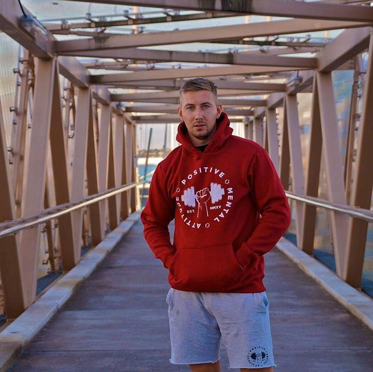 Image of PMA Fitwear 'Big Logo' Hoodie - Red