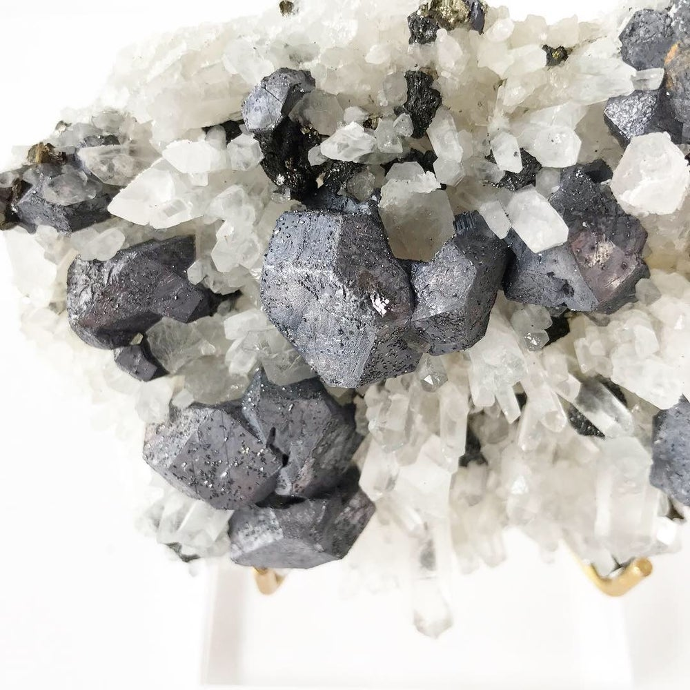 Image of Galena/Quartz/Chalcopyrite no.01 Stardust Collection Lucite Pairing