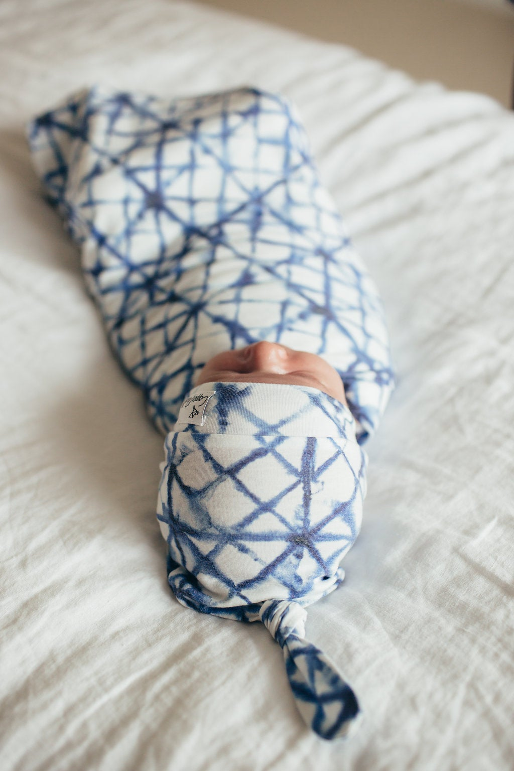 Image of Knit Waddle Blanket- Indigo