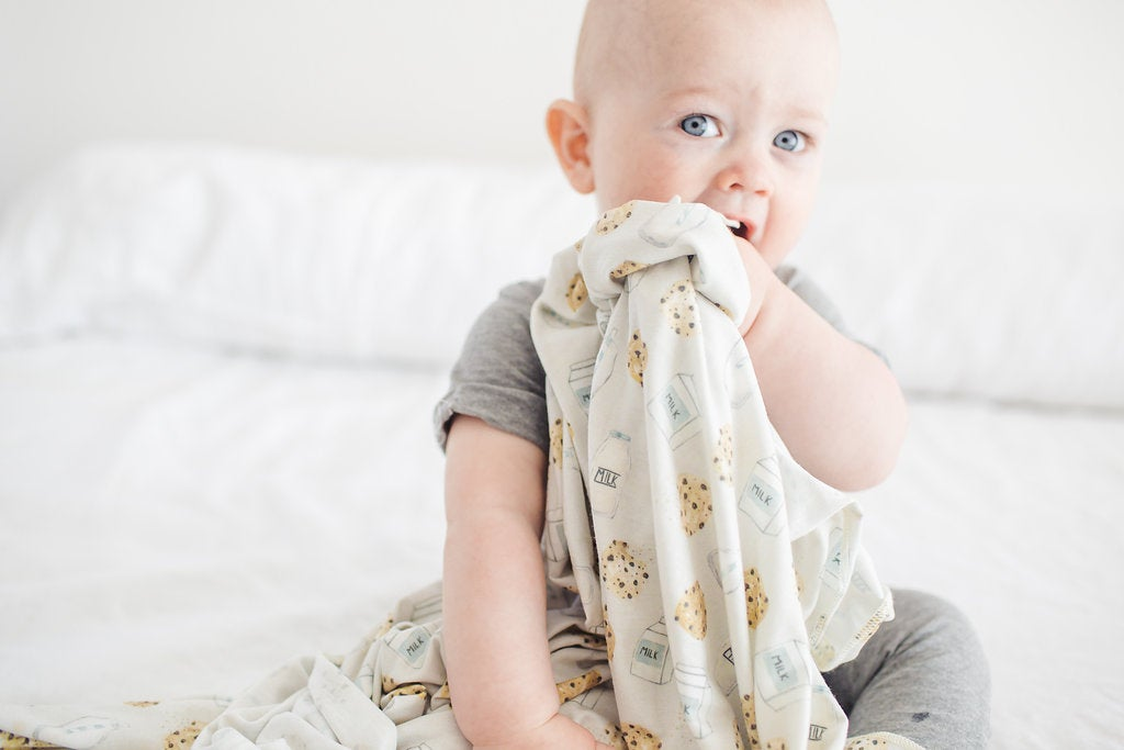 Image of Knit Swaddle Blanket- Chip