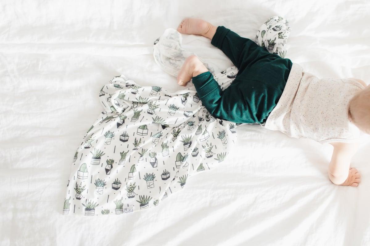 Image of Knit Swaddle Blanket- Shiloh