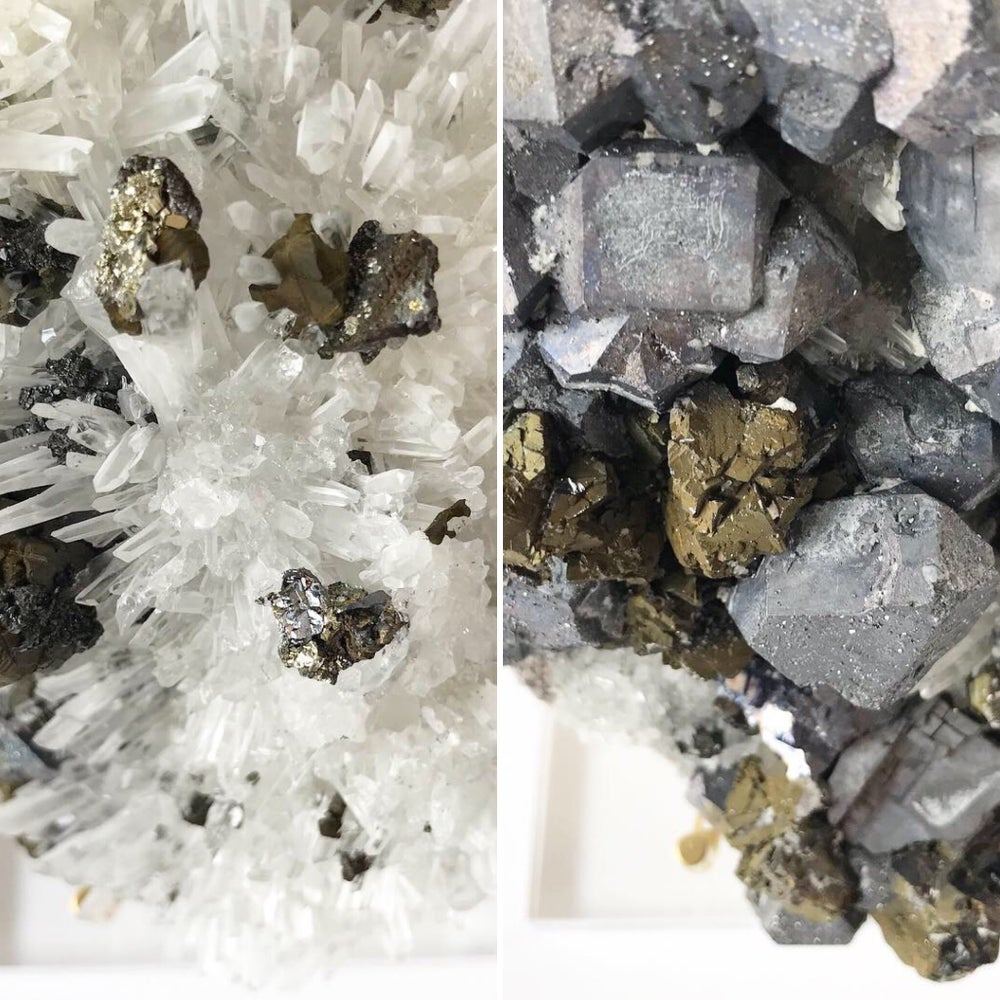 Image of Galena/Quartz/Chalcopyrite no.07 Stardust Collection Lucite Pairing