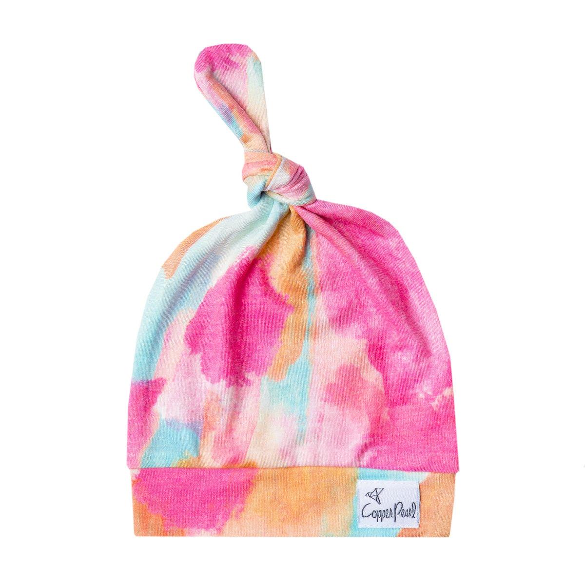 Image of Newborn Top Knot Hat- Monet