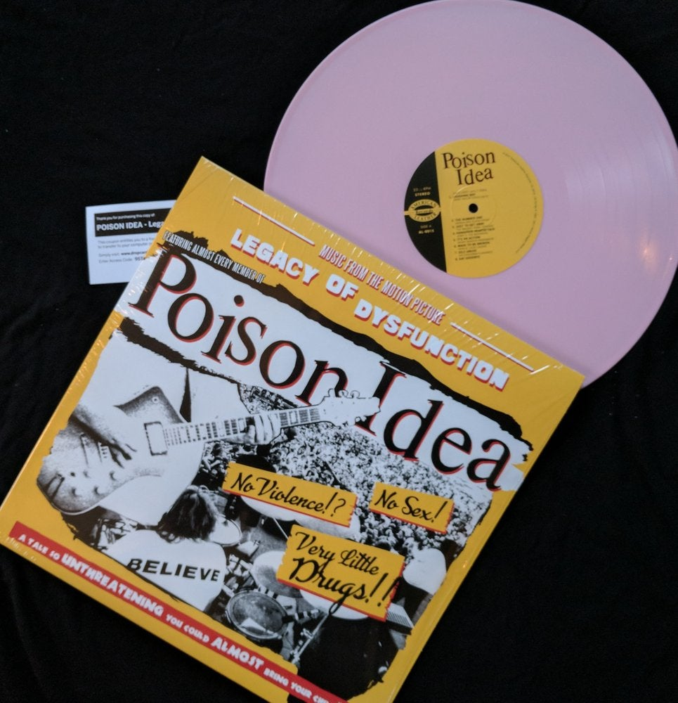 "Image of POISON IDEA - ""Legacy Of Dysfunction"" Original Soundtrack LP - Pink Vinyl"