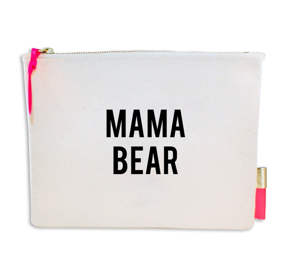 Image of PIPI CUCU CANVAS CLUTCH- MAMA BEAR