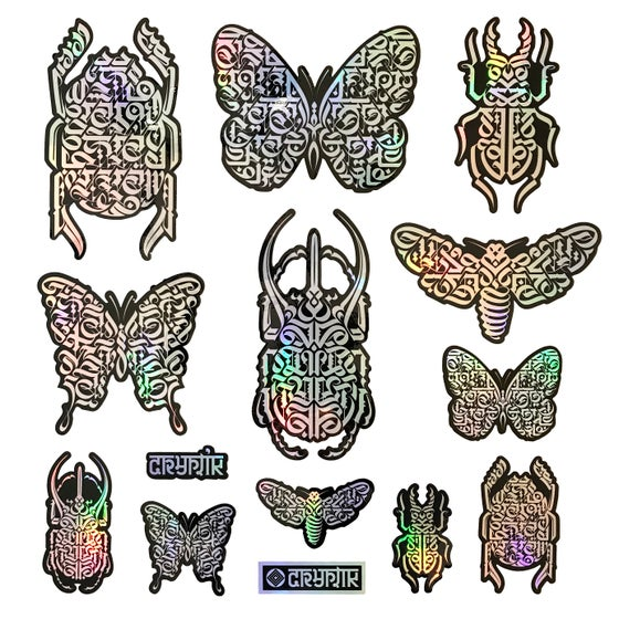 Image of STICKER PACK | 'Butterflies & Beetles' (Iridescent)