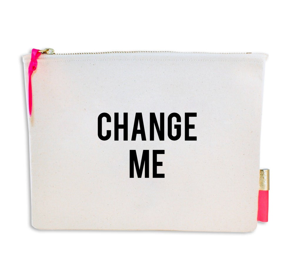 Image of PIPI CUCU CANVAS CLUTCH- CHANGE ME