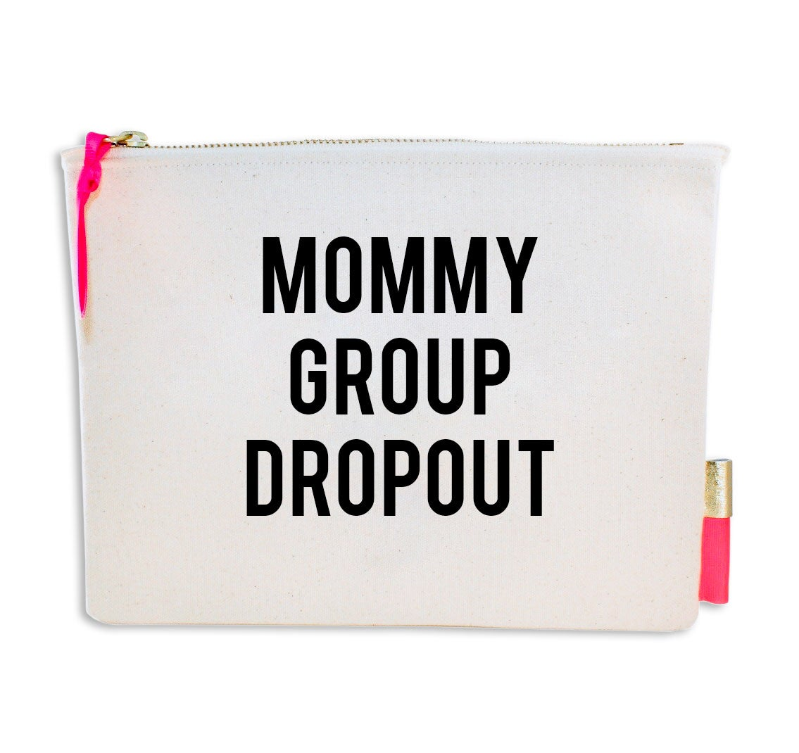 Image of PIPI CUCU CANVAS CLUTCH- MOMMY GROUP DROPOUT