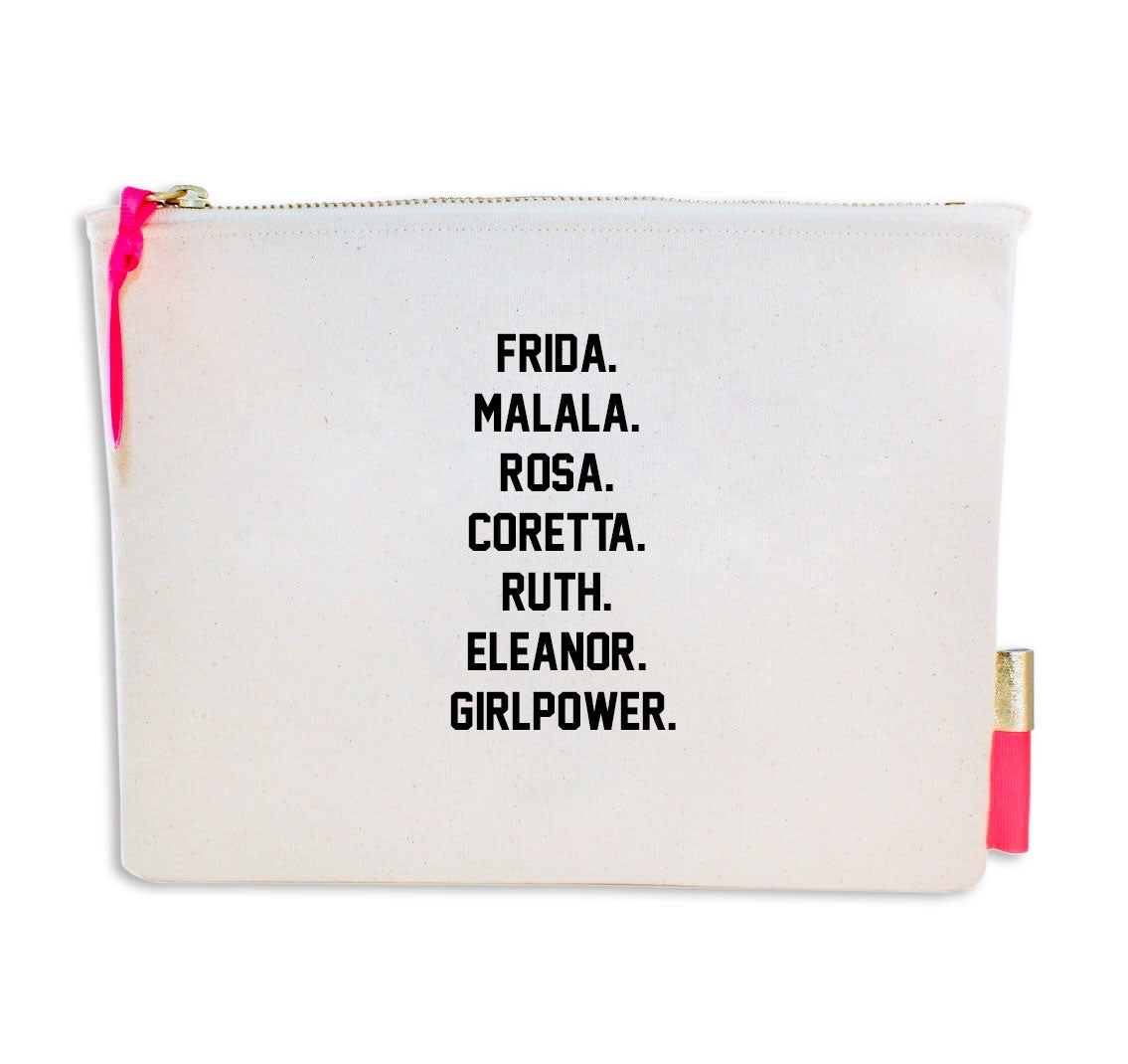 Image of PIPI CUCU CANVAS CLUTCH- GIRLPOWER
