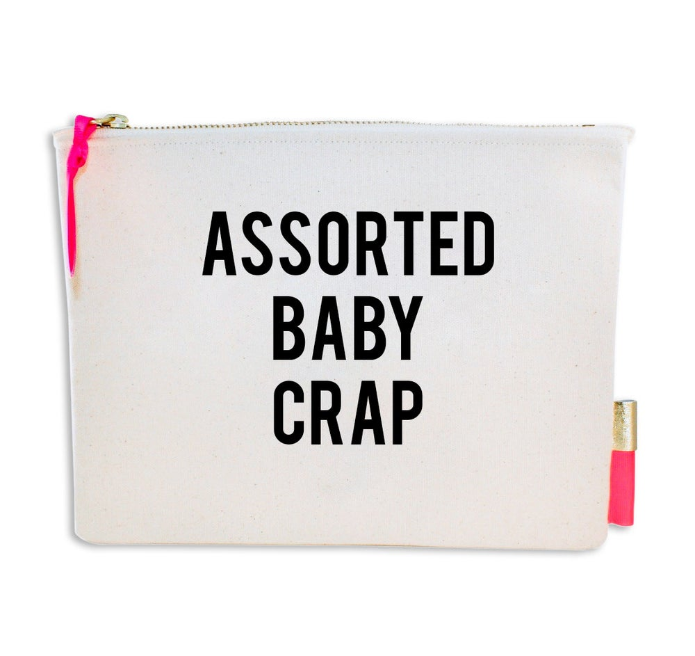 Image of PIPI CUCU CANVAS CLUTCH- BABY CRAP