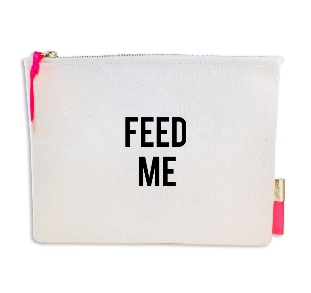 Image of PIPI CUCU CANVAS CLUTCH- FEED ME