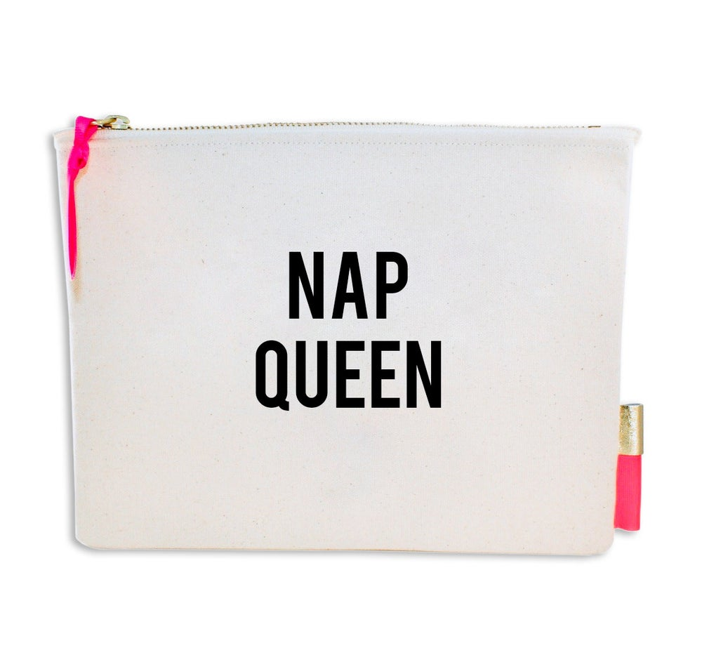 Image of PIPI CUCU CANVAS CLUTCH- NAP QUEEN