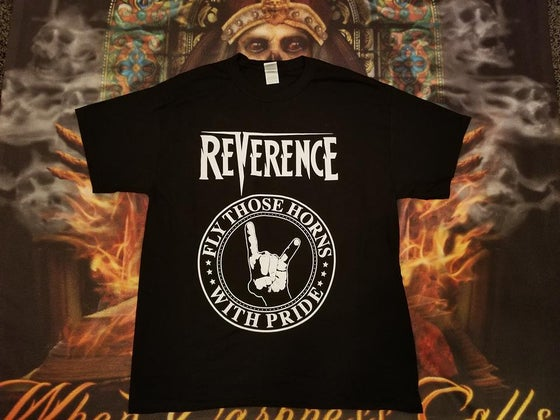 Image of Reverence Logo/Horns Shirt