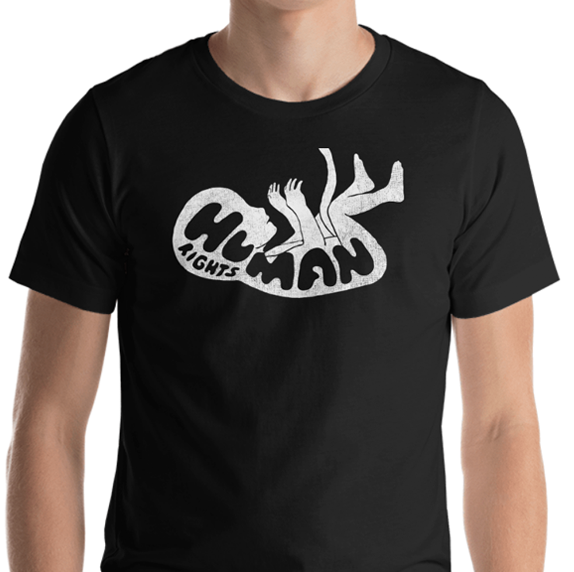 Image of HUMAN RIGHTS T-SHIRT - BLACK // WHITE