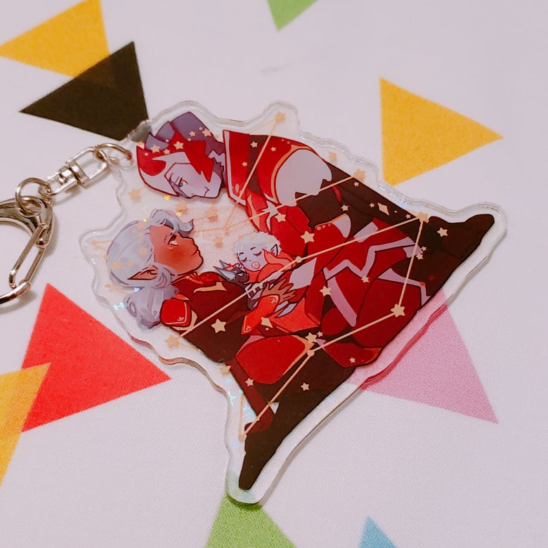 Image of Lotor Family Charm (Holo) *PREORDER*