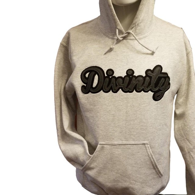 Image of Grey Heather -Leather script