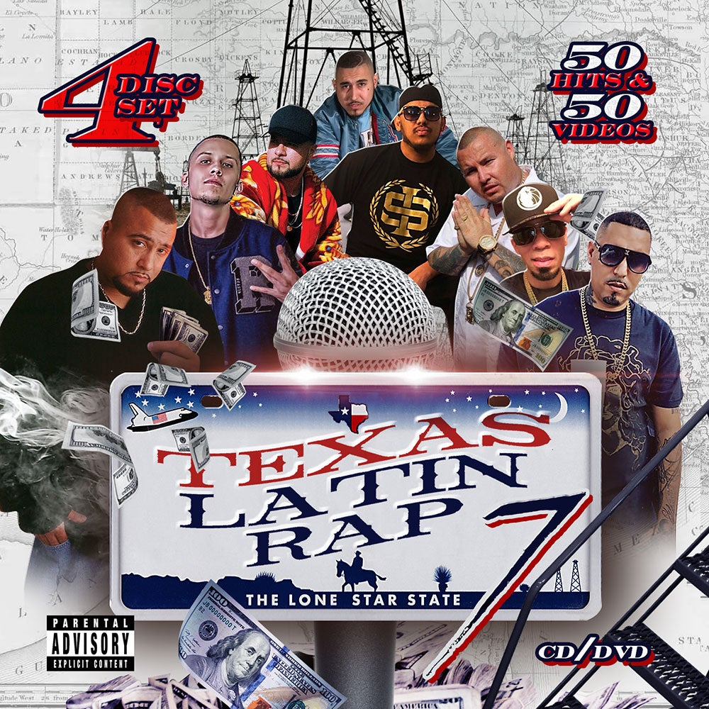 Image of Texas Latin Rap Volume 7 (4 Disc) ft. SPM, Lucky, GT Garza, Dat Boi T, Renizance & Many More