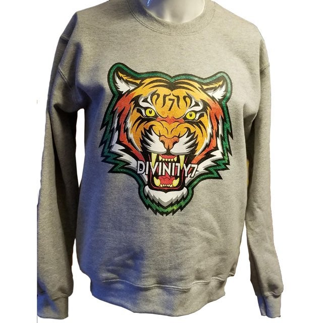 Image of Grey Tiger  Crewneck Sweater