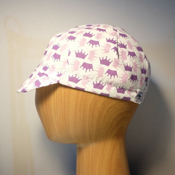 Image of Cotton cycling cap - pink crowns - QOM