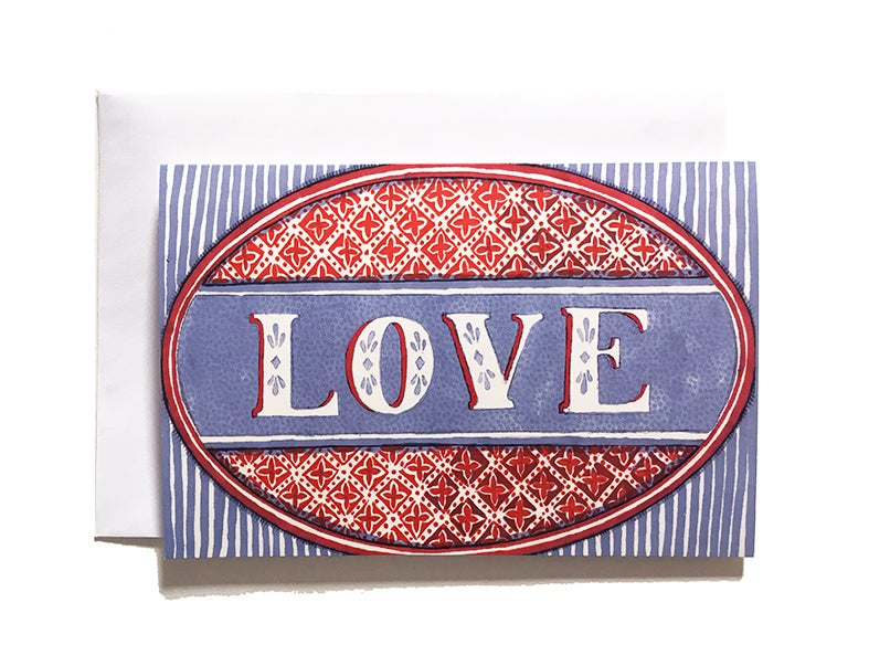 Image of LOVE - Greetings Card