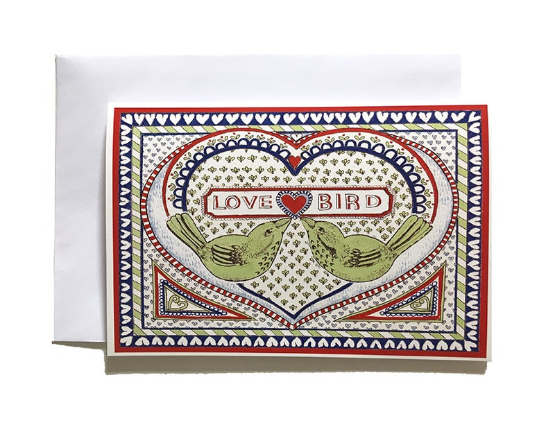 Image of Love Birds - Greetings Card