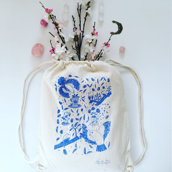 Image of Gym Bag *Birds Coffee Time*