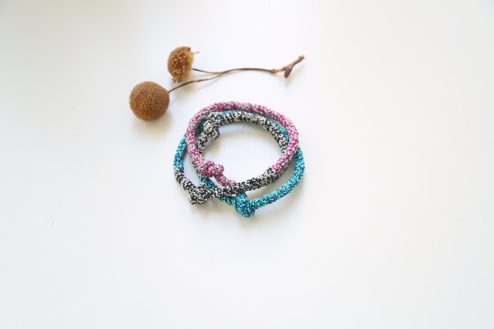 Image of Magenta- Turquoise Snake necklace or bracelet