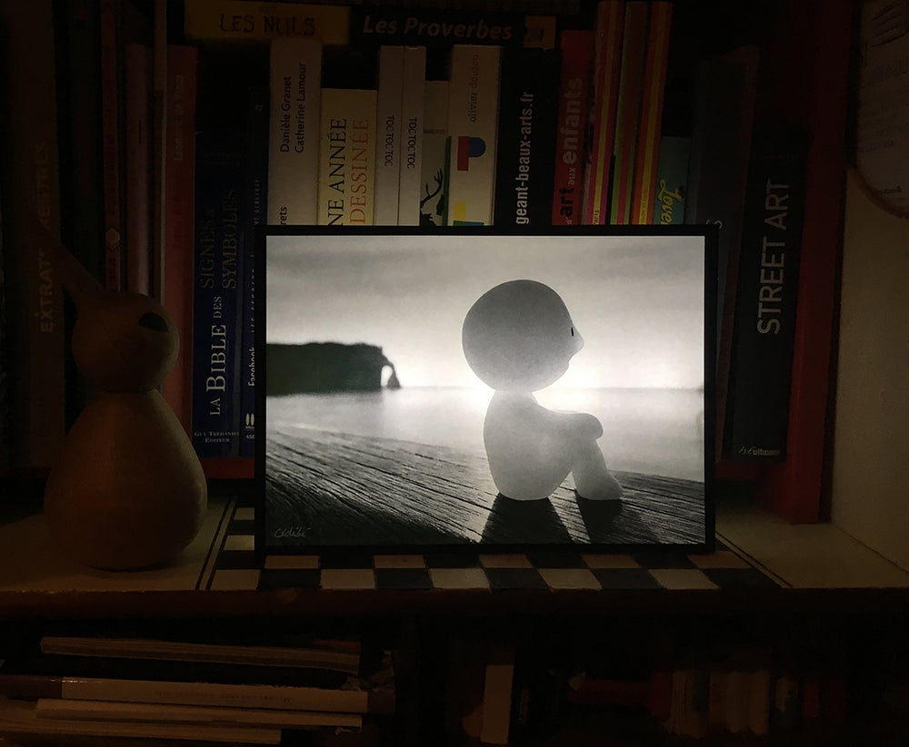 Image of Boîte lumineuse / Photo - Le Penseur