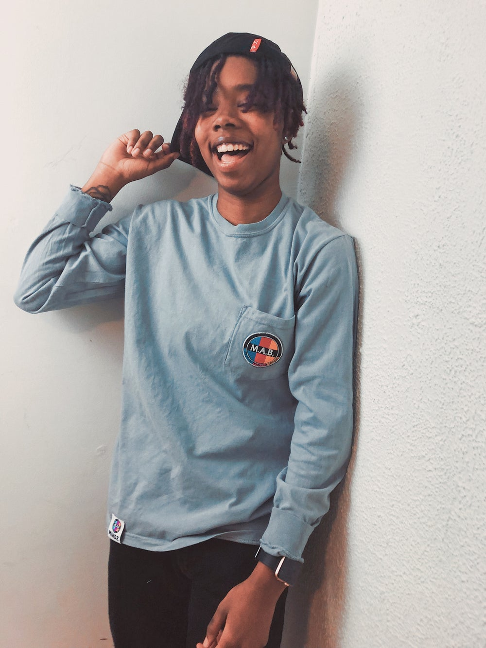 Image of M.A.B. PATCH LONG SLEEVE POCKET TEES