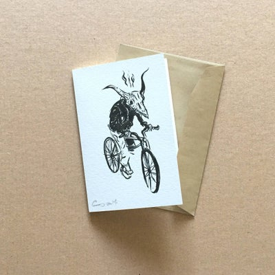 Image of Bike Fiend Greeting Card