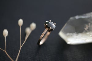 Image of *NEW* Rose Gold Black Rose-cut diamond, with diamond set band (IOW95)