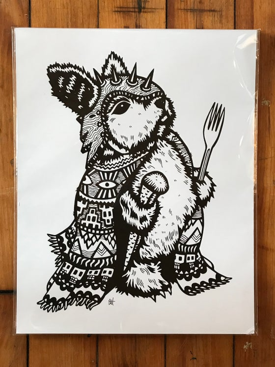 Image of Peckish Assassin, Screen Print on Card Stock