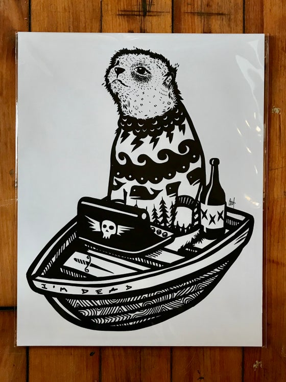 Image of The Writer, Screen Print on Card Stock