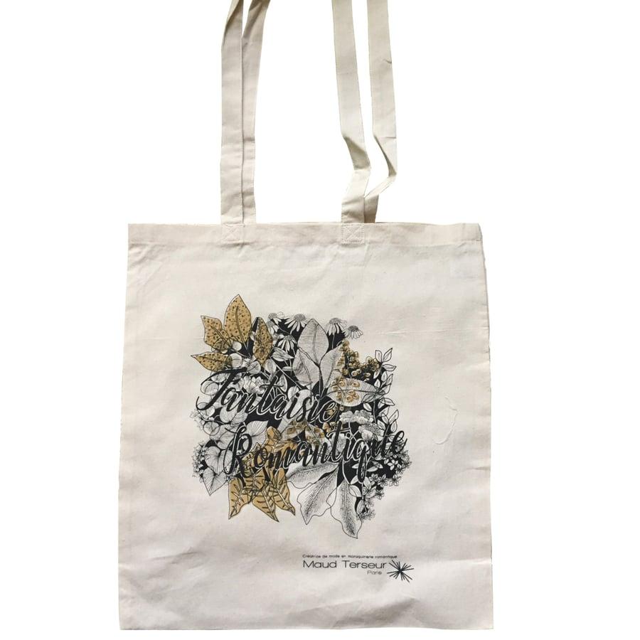 """Image of Tote bag """"FANTAISIE ROMANTIQUE"""""""