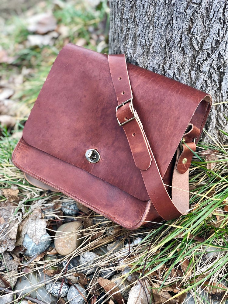"Image of The ""Malaga"" Bag in Horween Dublin type Acorn"