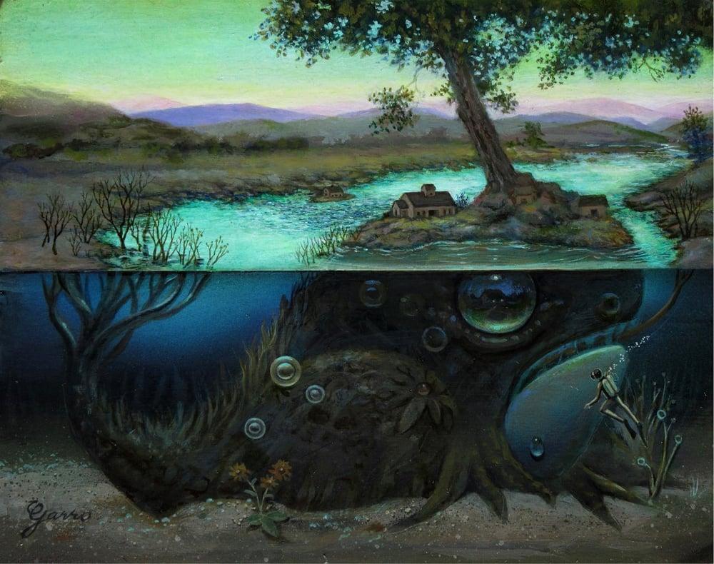 Image of Mark Garro 'Afterglow So Below' original art