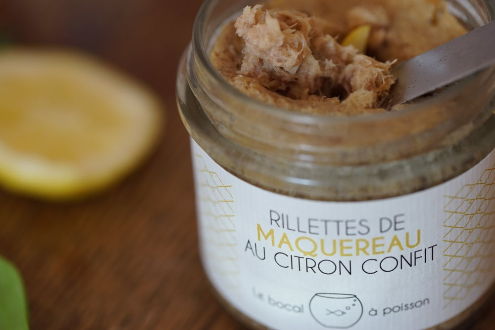 Image of Le bocal à poisson : Rillettes de Maquereau au Citron Confit