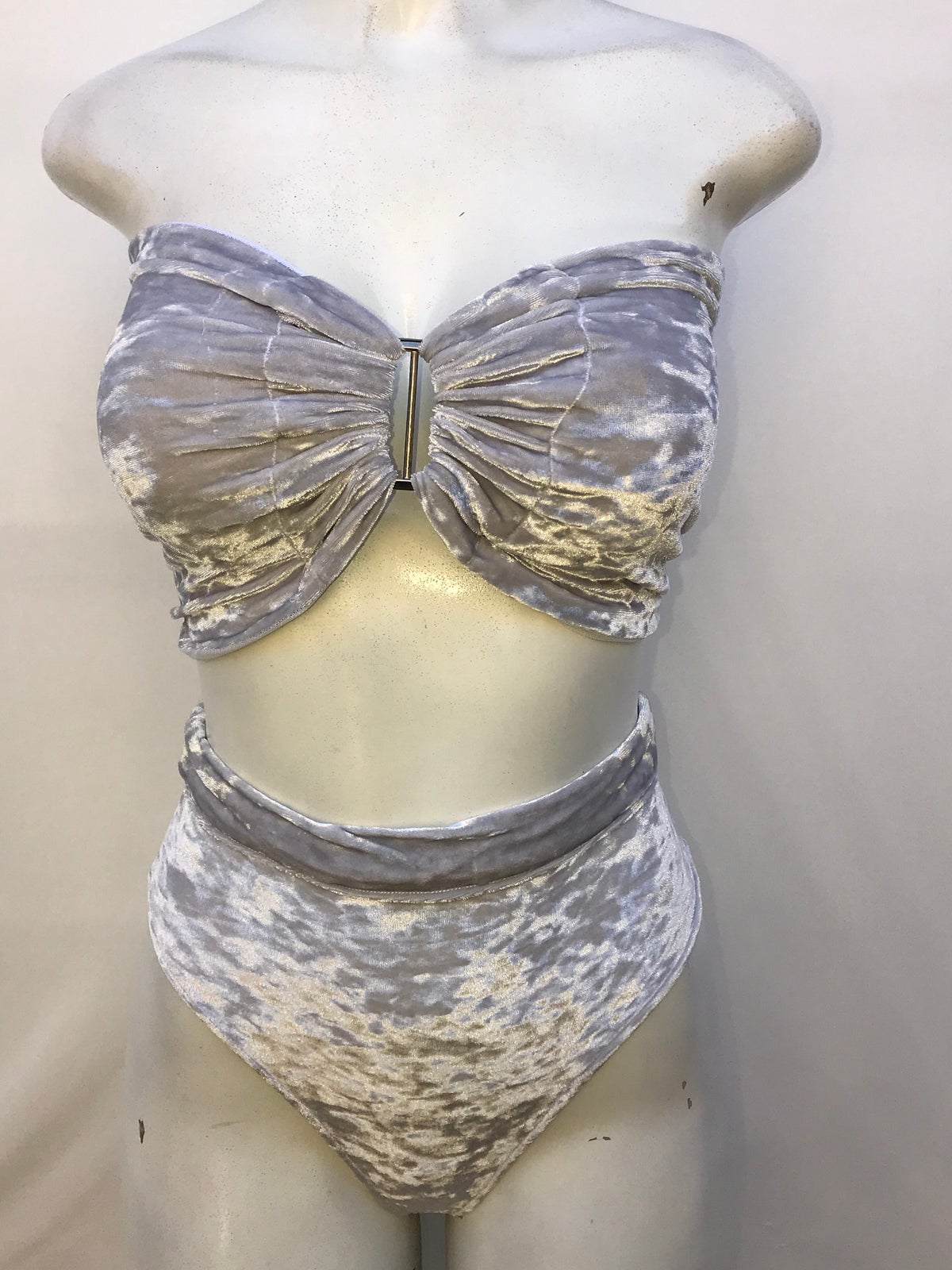 Image of Gray velvet 2 piece set