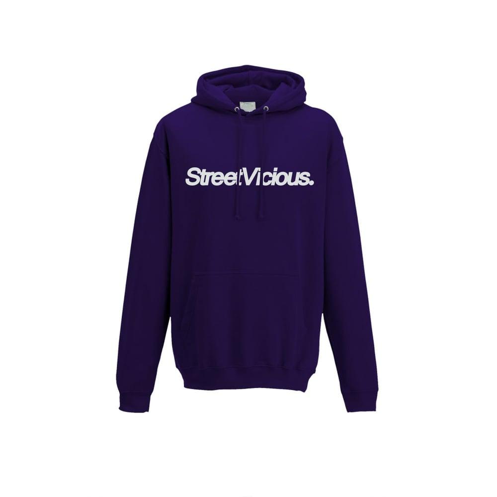 Image of Street Vicious Simple College Hoodie - Ultraviolet