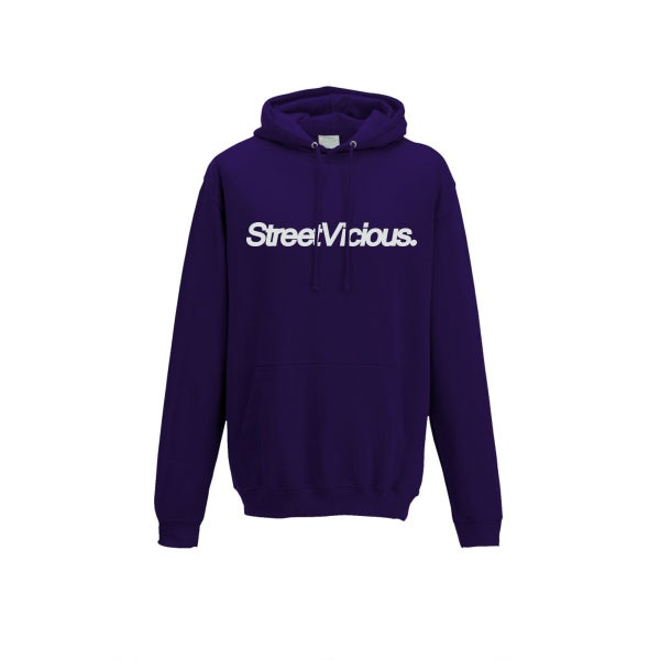 Image of Street Vicious Simple College Hoodie - Ultraviolet