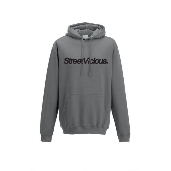 Image of Street Vicious Simple College Hoodie - Steel Grey