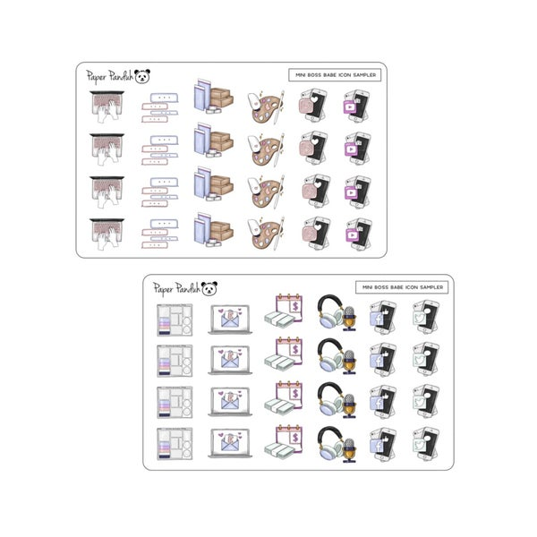 Image of Mini Boss Babe Icons - Credit Card Sized