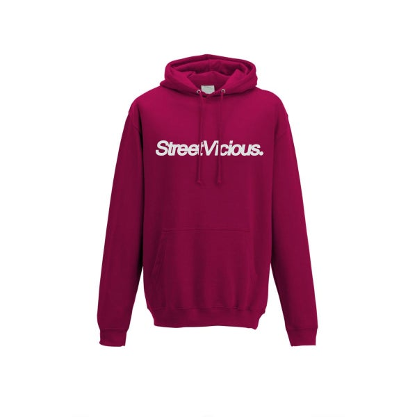 Image of Street Vicious Simple College Hoodie - Cranberry