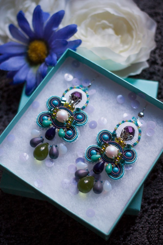 Image of Glory Earrings - Edition pearl - Velvet Kiss